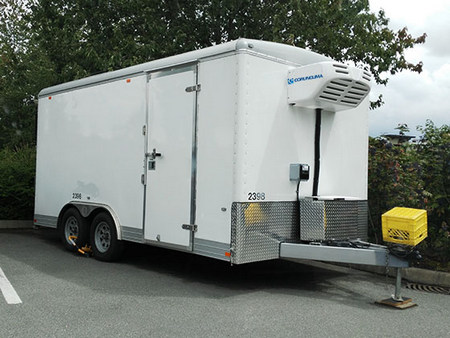 Corunclima all electric transport refrigeration unit C450FB