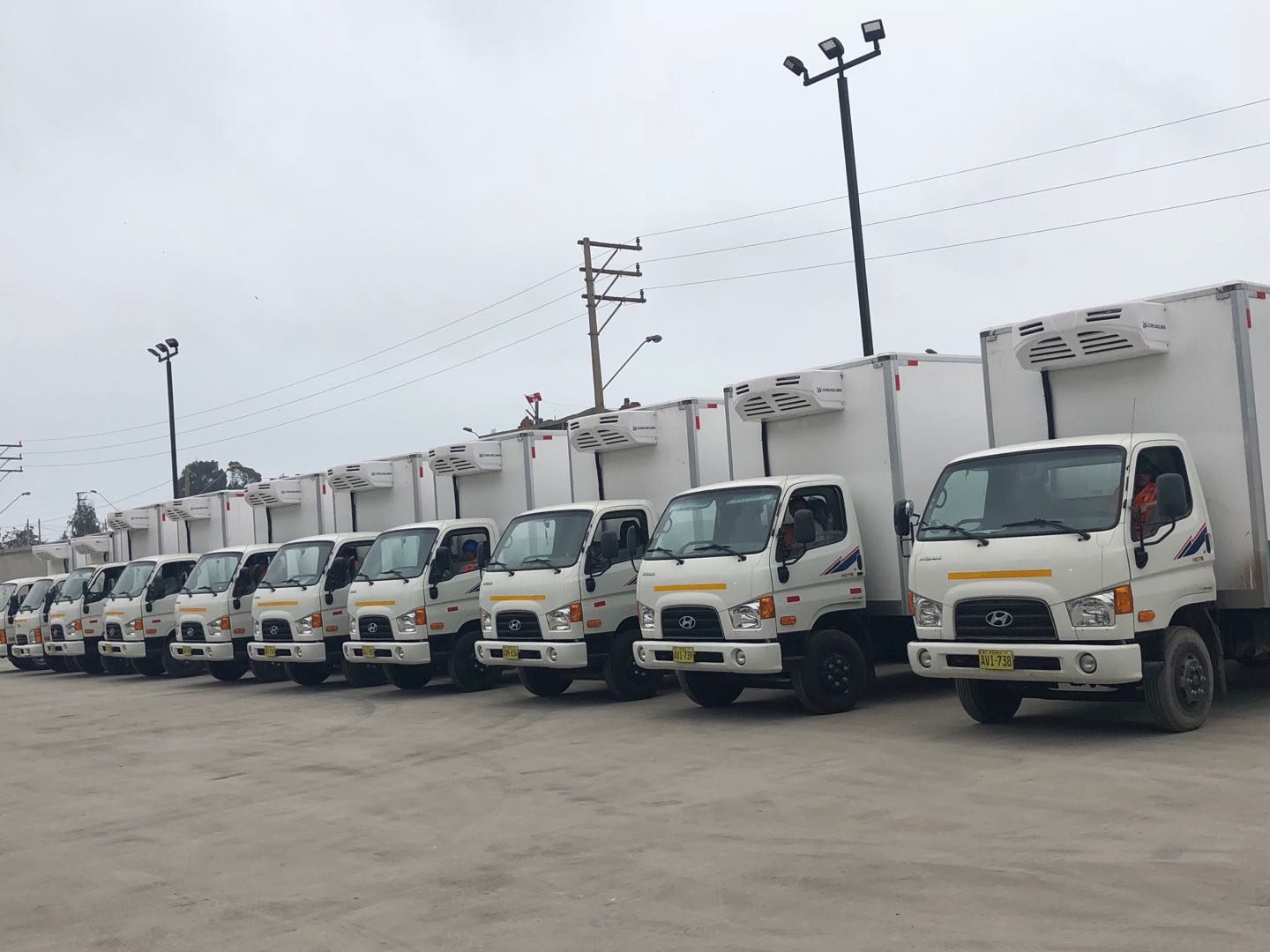 truck freezer unit installed in central america