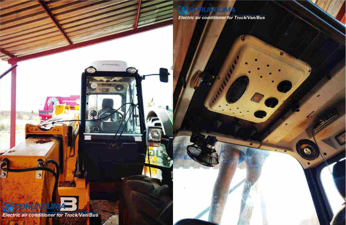 Electric air conditioner for heavy equipment