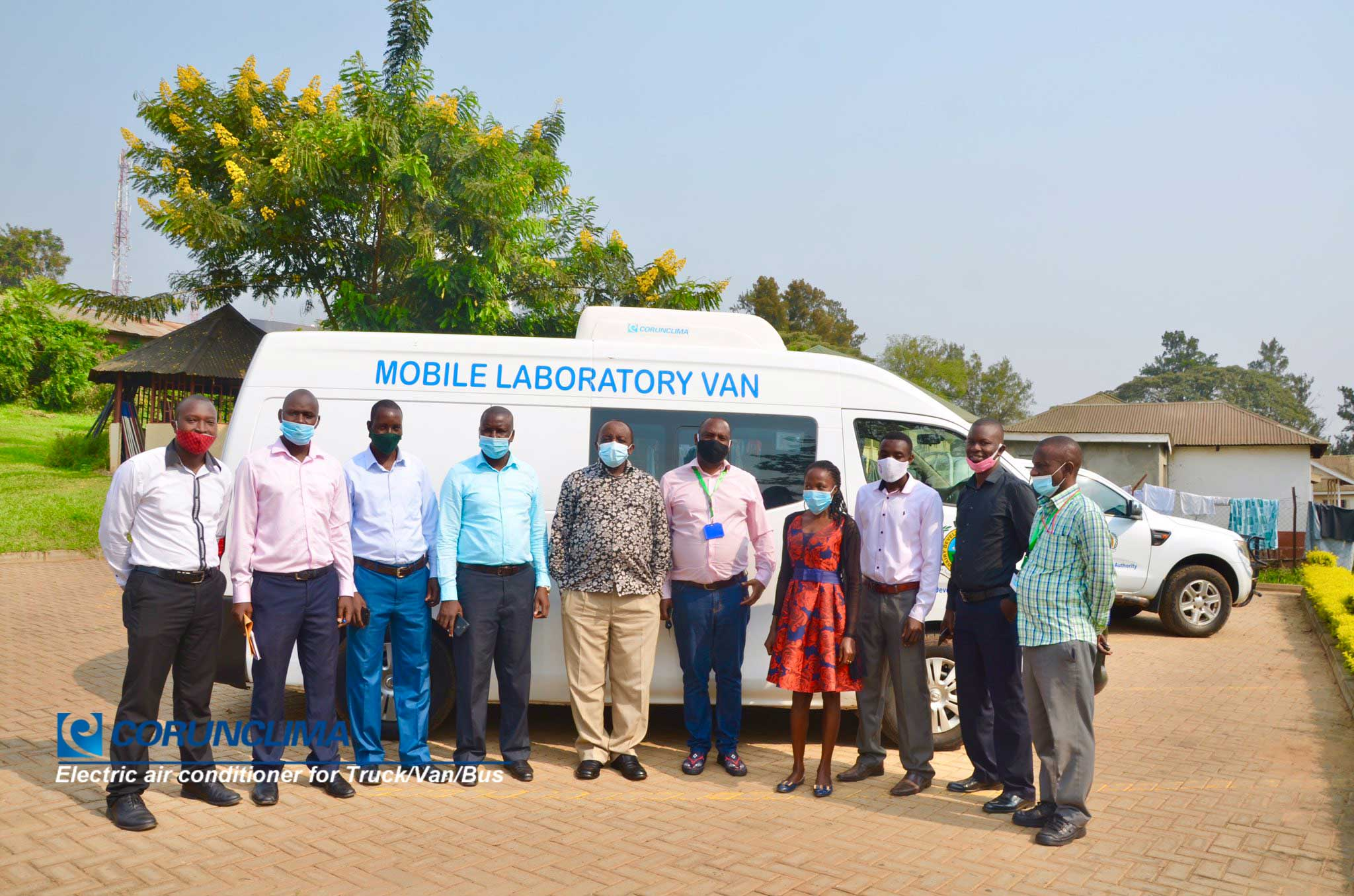 all-electric air conditioners for van  installed on Mobile Laboratory Van in Uganda