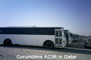 Corunclima Bus Air Conditioner AC36 Installed in Qatar